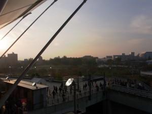 スタジアム夕焼け